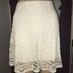 White Lace Charlotte Russe Skirt